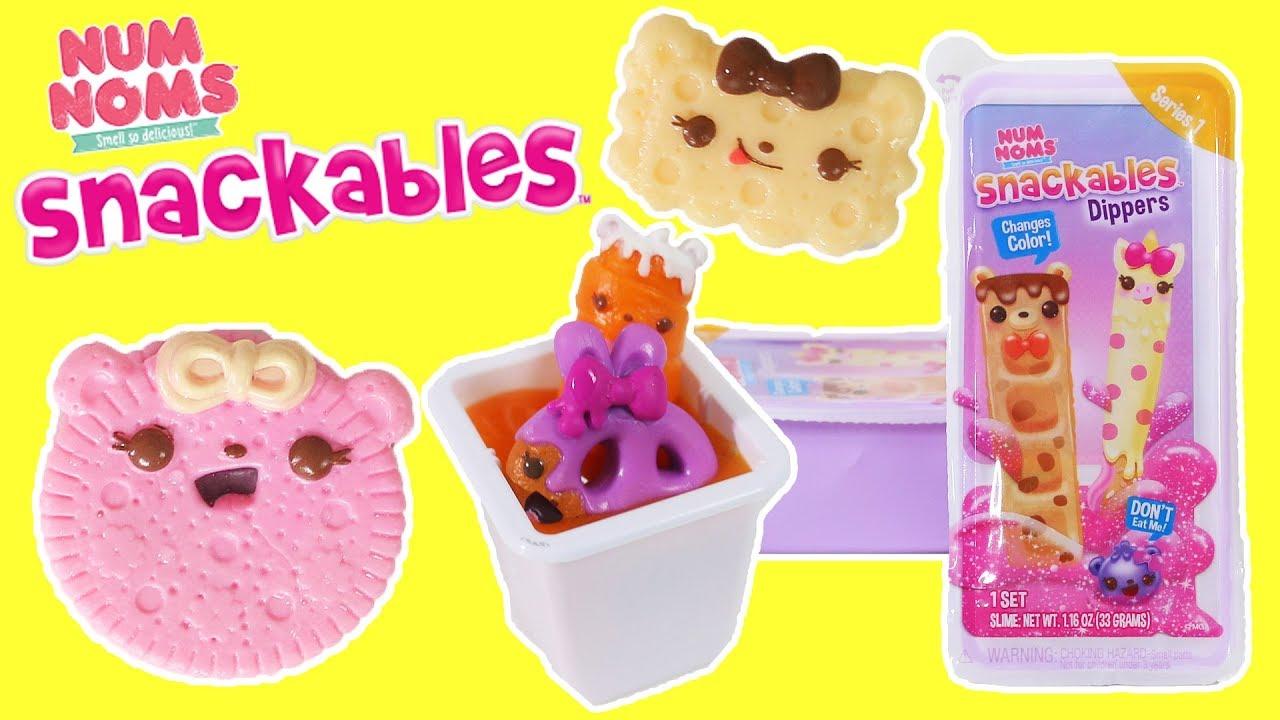 Num Noms Snackables Dippers With Slime Dip Youtube