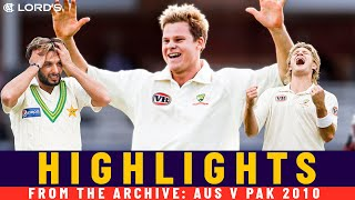 Steve Smith's Debut Test in Rare Neutral Match! | Classic Match | Australia v Pakistan 2010 | Lord's