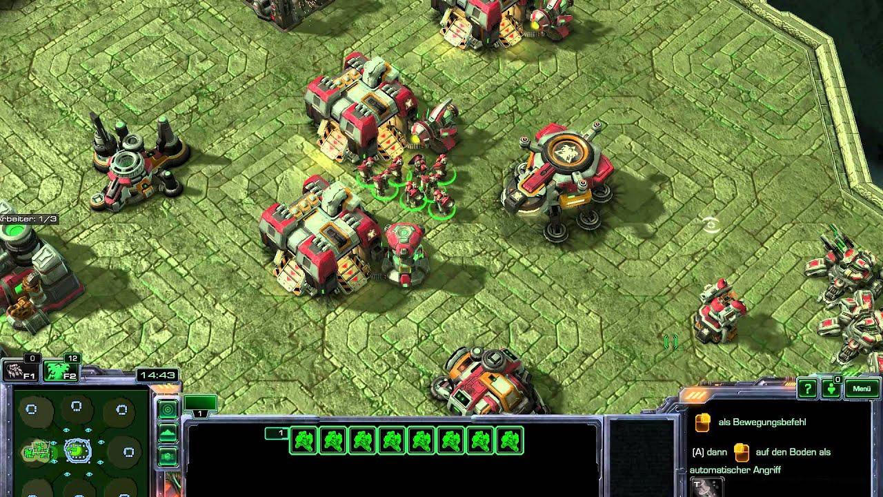 Starcraft 2 Gameplay Terran Vs Zerg Protoss | Crafting