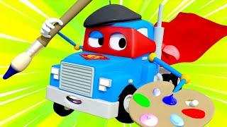 Грузовик художник - Трансформер Карл в Автомобильный Город 🚚 ⍟ детский мультфильм