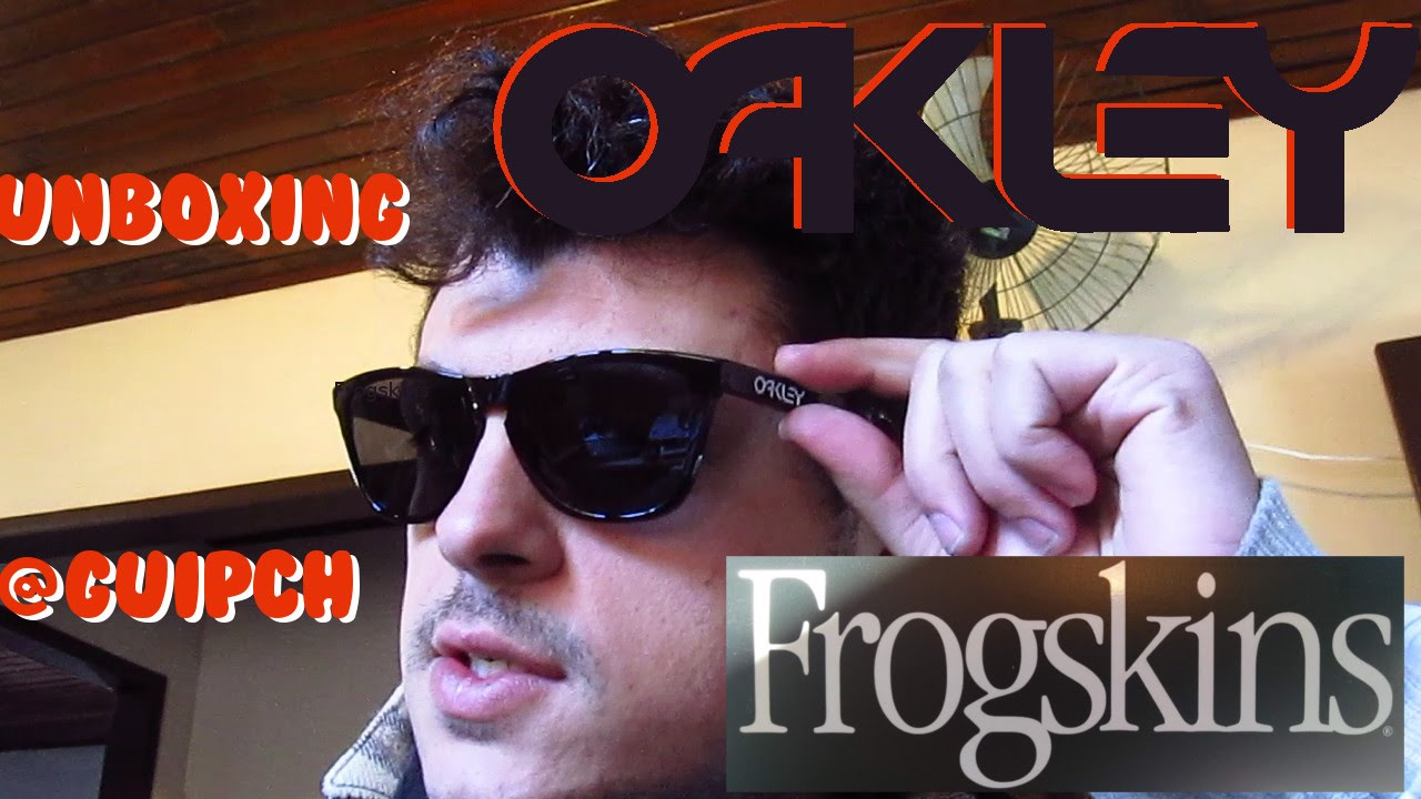 Unboxing óculos oakley frogskins netshoes - YouTube f3b94c78ac