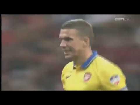 Download Lukas Podolski (Arsenal) - 26/07/2013 - Urawa Red Diamonds-JPN1x2 Arsenal - 1 gol