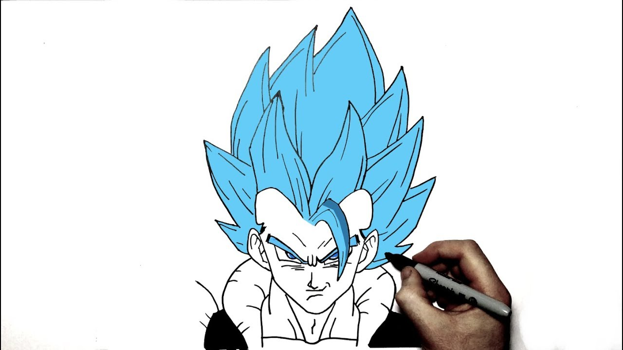 How To Draw Gogeta I Step by Step - YouTube