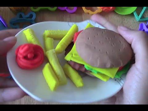 Play Doh Burger - طريقة عمل معجون الاطفال - هامبرغر - صلصال الاطفال - طين اصطناعي