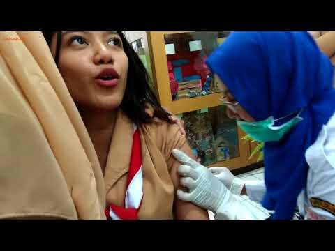 Akibat kena jarum suntik. Imunisasi difteri #1 SMKN 15 Jakarta