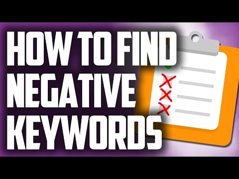 Negative Keywords List - Create A List Of Negative Keywords
