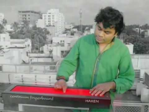 AR Rahman playing The Haken Continuum Fingerboard
