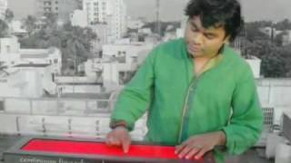 AR Rahman playing The Haken Continuum Fingerboard