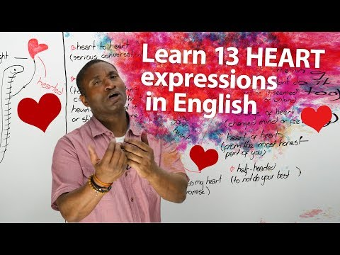 Learn 13 HEART EXPRESSIONS in English ??