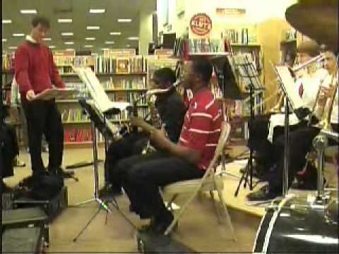 Northridge High School Jazz Band launches Christmas 2011 at Barnes and Noble.wmv