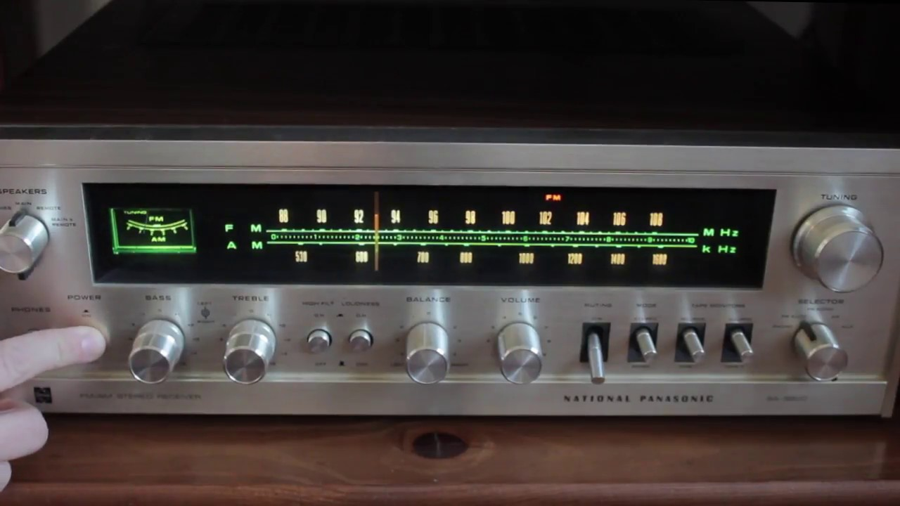 National Panasonic Sa-5800 Vintage Stereo Receiver