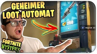 🏧💎 *NEU* SECRET LOOT VENDING MACHINE EASTER EGG FOUND | Fortnite Myth Deutsch German