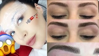 Mircroblading Tattooed Eyebrows 1 Year Update before and after CC Clarke Beauty