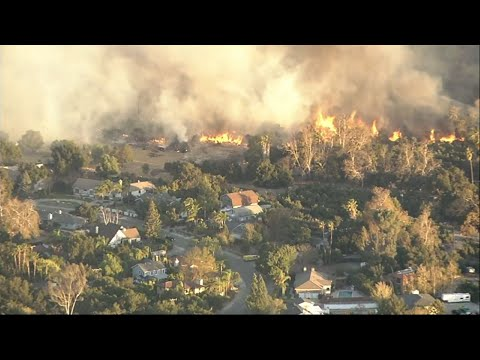 So. Calif. Fire Grows to 70 Square Miles