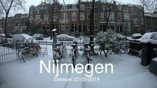 Timelaps Sneeuw in Nijmegen 22-01-2019