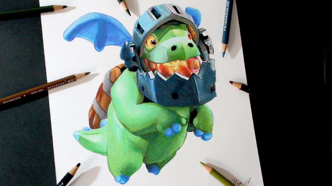 Como dibujo al Dragn Infernal de Clash Royale  How to draw