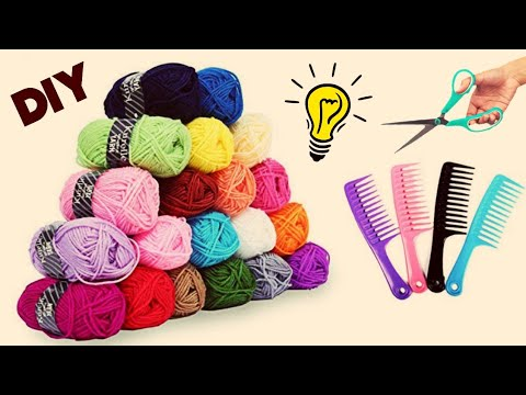 How to make pom pom with wool||woolen craft idea||diy art and craft||Rubber band making from wool ||