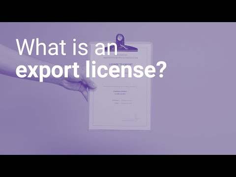 What is an export license?