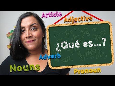 ¿Qué es: Noun, Adjective, Verb, Adverb, etc en inglés?