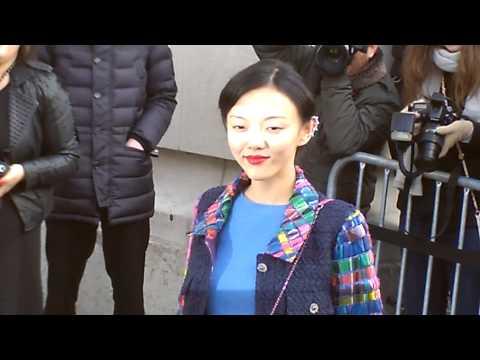 Rila FUKUSHIMA à Paris Défilé Show CHANEL Paris 2014 Fashion Week 4 mars march