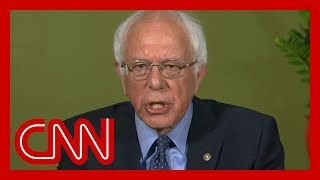 Bernie Sanders reacts to trailing Biden in CNN poll