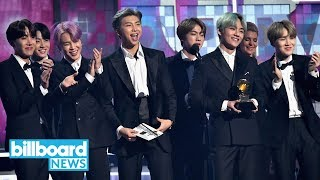 BTS' Big Debut at Grammys 2019: Presenting H.E.R. With R&B Album of the Year & More | Billboard News