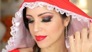 Como es Caperucita Roja Hoy! #PrincesasDeHoy Halloween Tutorial Maquillaje - SandraCiresArt
