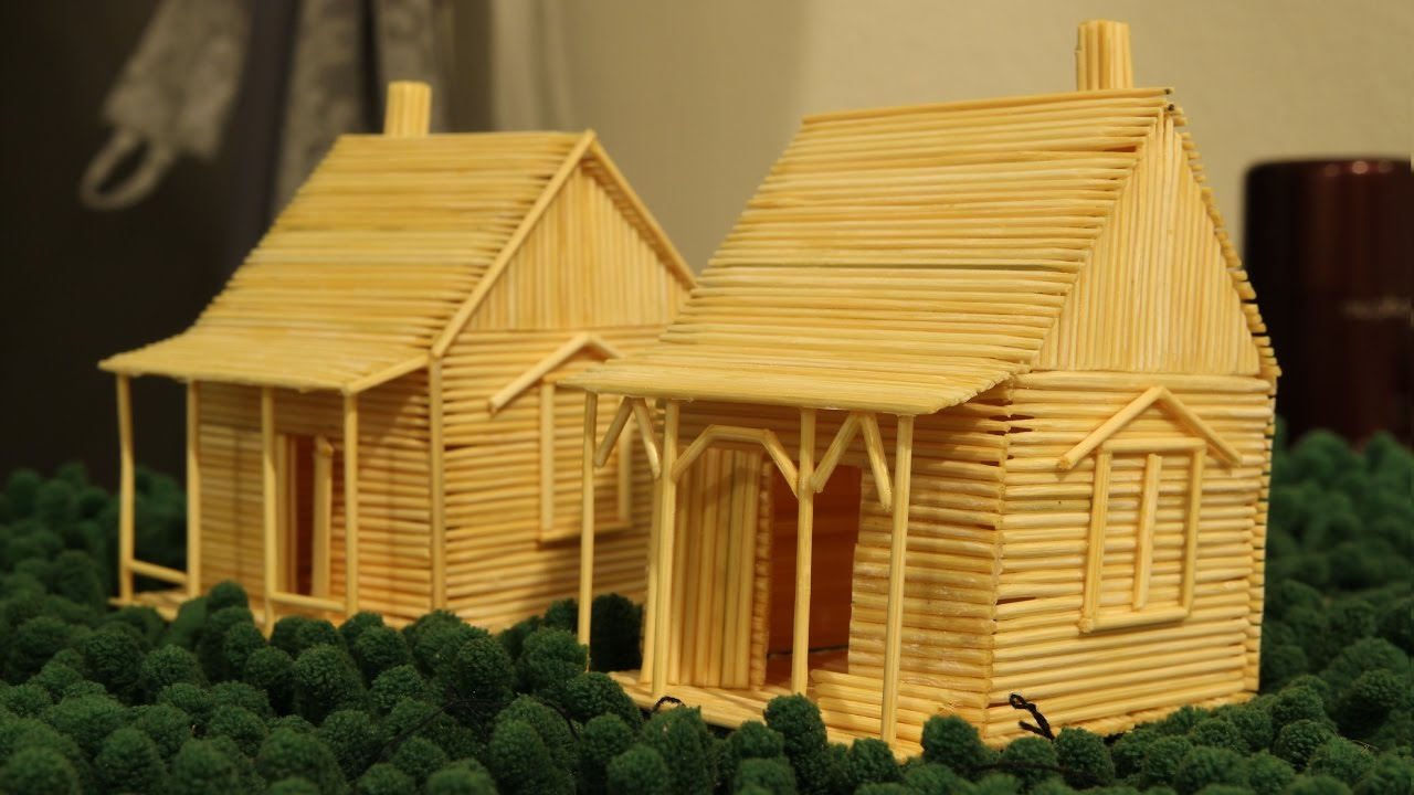 How To Make A Toothpick House   Making Toy Awesome Design