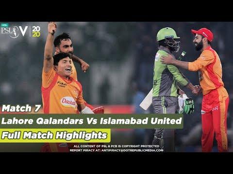 Shadab's Genius Wrecks | Lahore Qalandars Vs Islamabad United | Full Match 7 | HBL PSL 5 | 2020