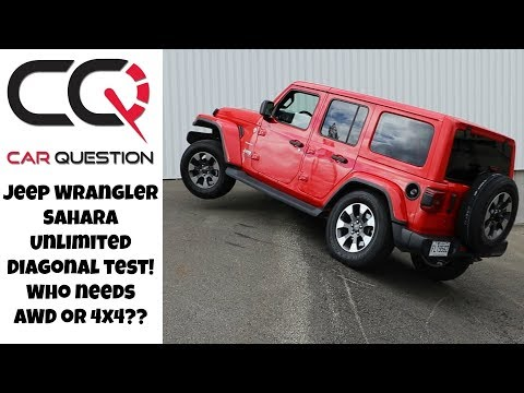 Jeep Wrangler Sahara Unlimited Diagonal test | Just too easy for the off-road king!