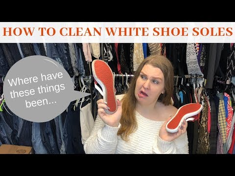 How to Clean the White Soles of Shoes like Vans Chuck Taylors Nike and More!