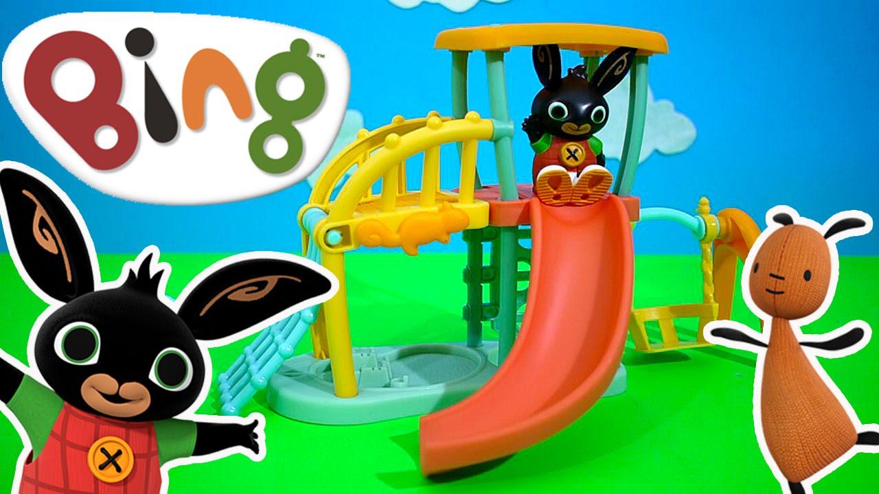 Bing - Bing Bunny Cbeebies Playground Toy Unboxing Kids Play O Clock Youtube