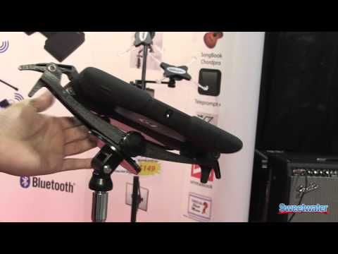 Airturn Clamp Tablet Computer Stand Demo - Sweetwater at Summer NAMM