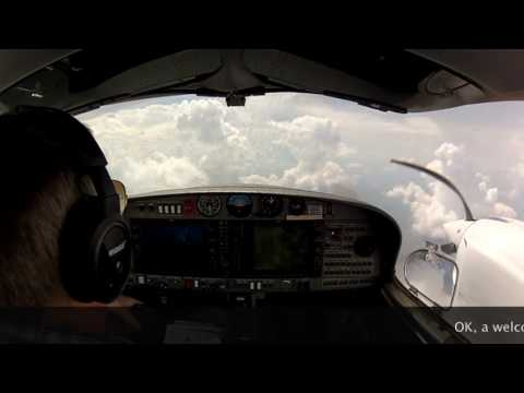 DA42-VI IFR Arrival and Landing Frankfurt Intl. in weather
