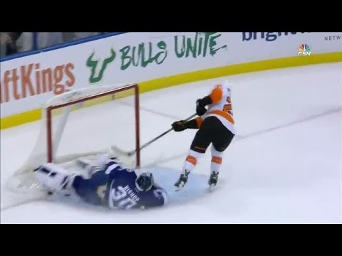 Ben Bishop's Stick Lift Against Giroux On The Penalty Shot