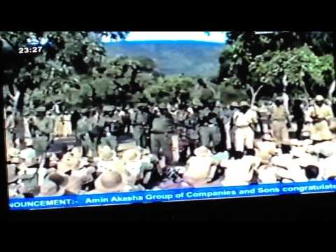 John Garang talking to SPLA soldiers