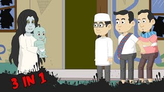 Horor Lucu 3 in 1 - Kompilasi 31 Episode - Bagian 31 - Funny Cartoon - Horor Lucu Official