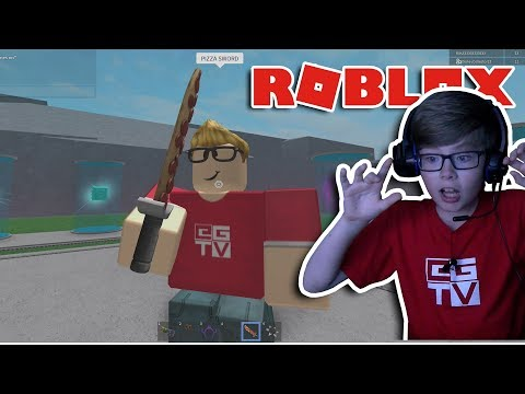 I HAVE A PIZZA SWORD! Roblox | Lucky Block Battlegrounds