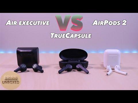 JLab JBuds Air Executive vs SoundPEATS TrueCapsule & Apple AirPods 2 -  The winner is?