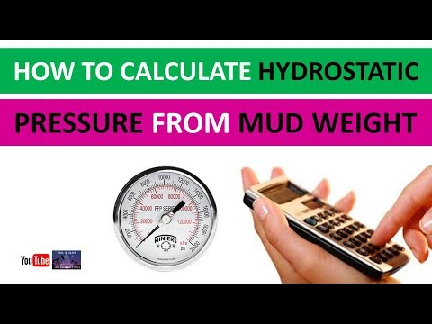 How to Calculate Hydrostatic Pressure From Mud Weight | Oil and Gas