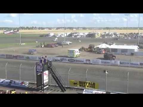 Red River Valley Speedway 07/17/2016 - NOSA Sprints   Heat 2