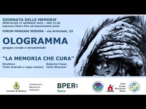 """GIORNATA DELLE MEMORIE 2016: """"La memoria che cura"""" - OLOGRAMMA CONCERT"""