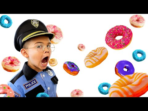 Pretend play police the donuts are gone !