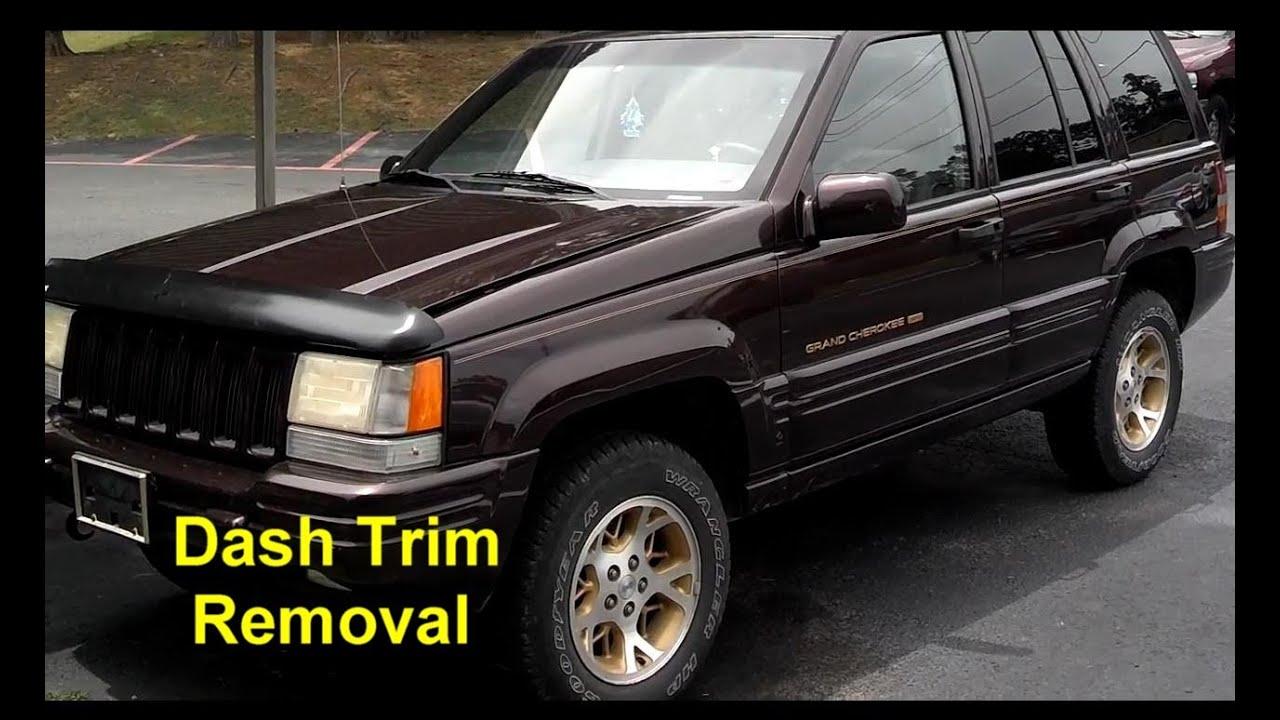 jeep grand cherokee center dash trim removal auto repair
