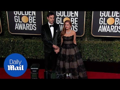 Lady In Lace! Isla Fisher Hits Red Carpet At 2019 Golden Globes