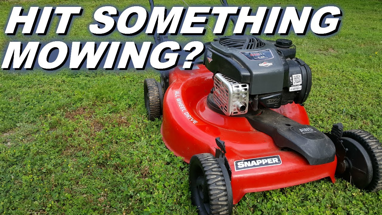 Lawnmower hit something now it won't start  Blade adapter broke