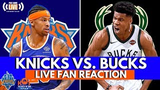 Knicks Fall To The Bucks 124-113! 😠😠😠  LIVE Reaction and Fan Phone In!  Call In 657-383-1509