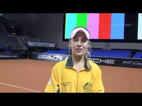 Fed Cup Australia v Germany: Olivia Rogowska pretie interview