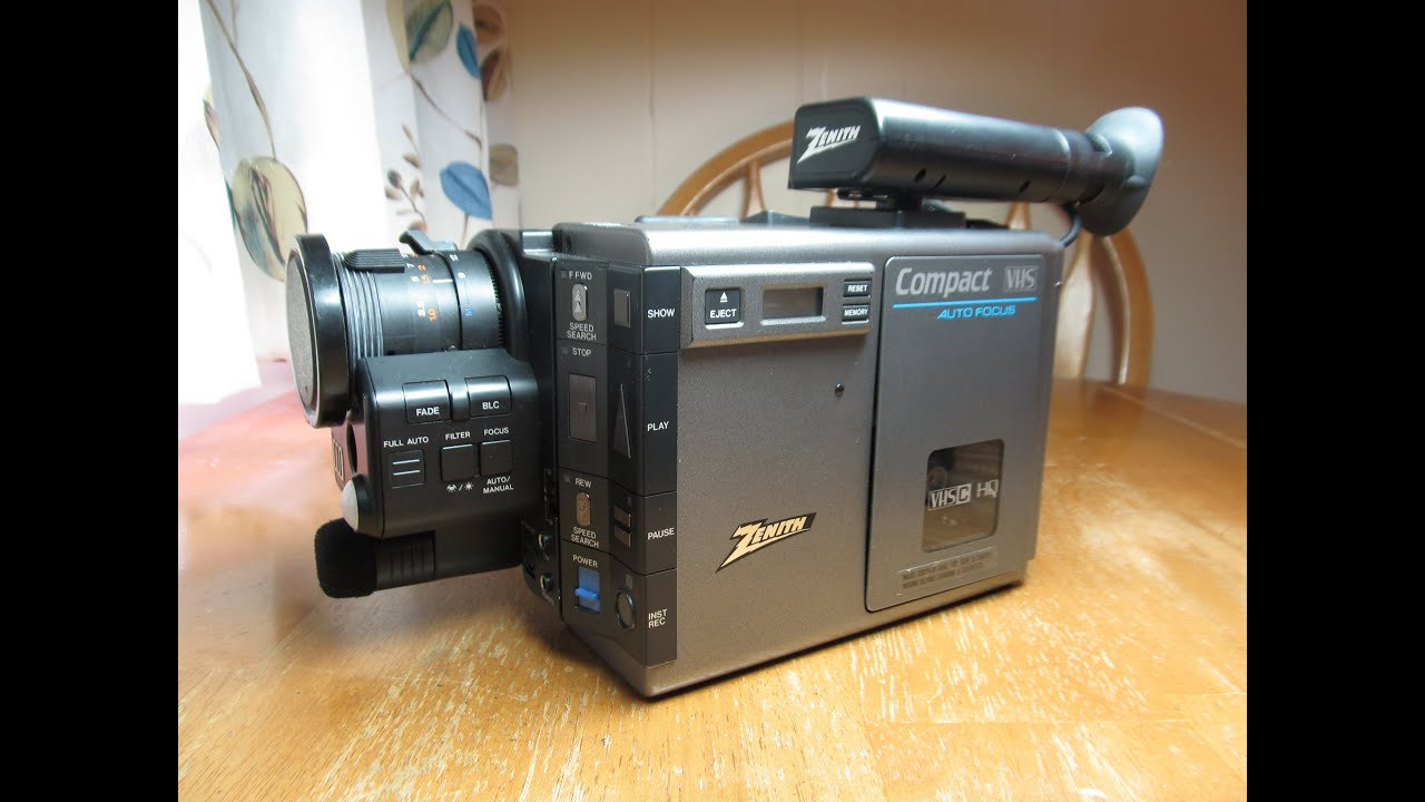 Zenith Vm6200  Jvc Gr-c7  Vhs-c Camcorder  1986   Part 1