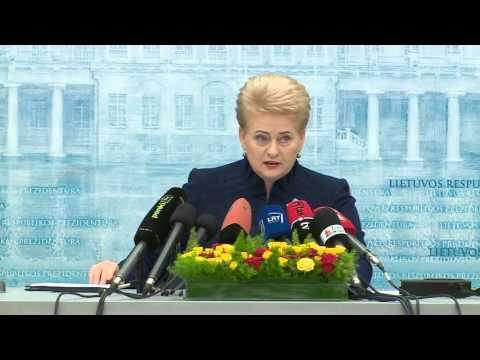 Prezidentės Dalios Grybauskaitės spaudos konferencija